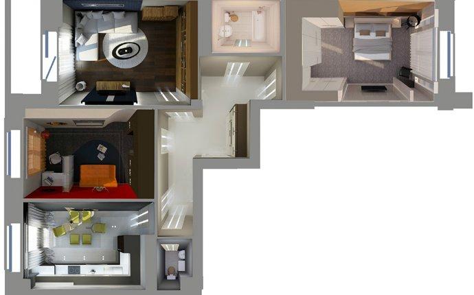 План типовой 3-комнатной