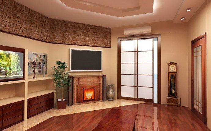Дизайн интерьера зала в