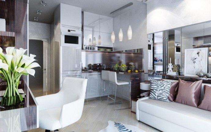 Дизайн квартиры студии в 20 кв.м. 5 проектов с фото