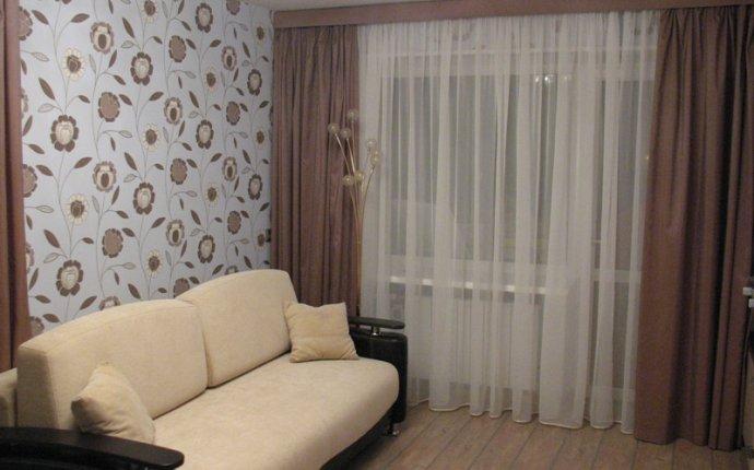 Дизайн штор в квартире студии